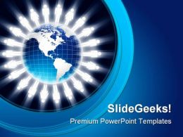 Human Figures Globe PowerPoint Templates And PowerPoint Backgrounds 0811