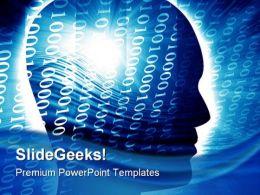 Human Head Binary Background PowerPoint Templates And PowerPoint Backgrounds 0811