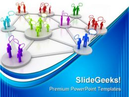 Human Network Communication PowerPoint Templates And PowerPoint Backgrounds 0311