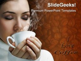 I Love Coffee Health PowerPoint Templates And PowerPoint Backgrounds 0111