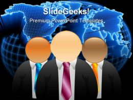 Icon Businessman Business PowerPoint Background And Template 1210