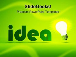 Idea Business PowerPoint Background And Template 1210