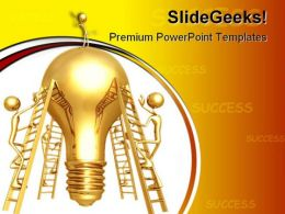 Idea Climb On People Business PowerPoint Backgrounds And Templates 1210