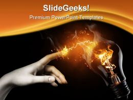 Idea Lighting People PowerPoint Template 0810