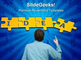 Idea Man Business PowerPoint Background And Template 1210