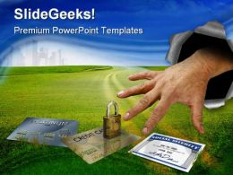Identity Theft Security PowerPoint Template 1110