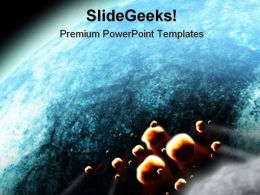 Impact Earth Globe PowerPoint Template 0810