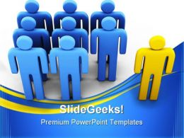 Individuality Leadership PowerPoint Templates And PowerPoint Backgrounds 0311