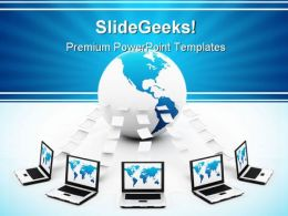 Information Sharing Computer PowerPoint Backgrounds And Templates 0111