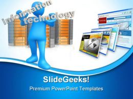 Information Technology Internet PowerPoint Templates And PowerPoint Backgrounds 0711