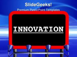 Innovation Signpost Metaphor PowerPoint Templates And PowerPoint Backgrounds 0711
