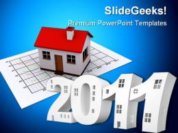 Inscription Stylized House Realestate PowerPoint Background And Template 1210