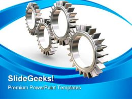 Interlocking Gears Industrial PowerPoint Templates And PowerPoint Backgrounds 0611