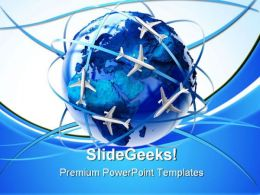 International Air Travel Transportation PowerPoint Templates And PowerPoint Backgrounds 0611