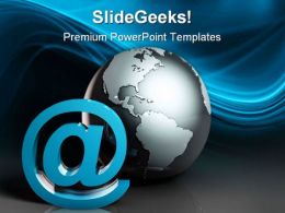 Internet Access Global PowerPoint Templates And PowerPoint Backgrounds 0311