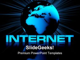 Internet And Globe Computer PowerPoint Templates And PowerPoint Backgrounds 0211