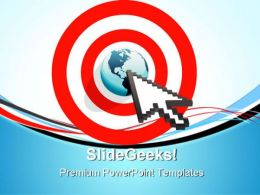 Internet Arrow Clicks Targeted Global PowerPoint Templates And PowerPoint Backgrounds 0611