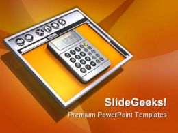 Internet Browser And Calculator Technology PowerPoint Templates And PowerPoint Backgrounds 0711