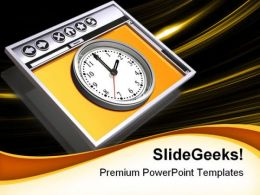 Internet Browser And Time Symbol PowerPoint Templates And PowerPoint Backgrounds 0111