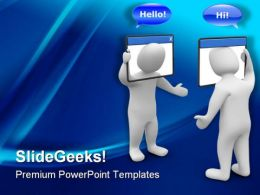 Internet Chat Concept Business PowerPoint Templates And PowerPoint Backgrounds 0111