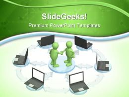 Internet Computer Communication PowerPoint Templates And PowerPoint Backgrounds 0611