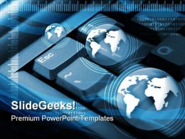 Internet Concept Global PowerPoint Templates And PowerPoint Backgrounds 0611