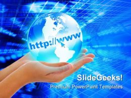 Internet Concept Globe PowerPoint Template 0910