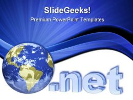 Internet Globe PowerPoint Template 1110