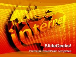 Internet Illustration Binary Computer PowerPoint Templates And PowerPoint Backgrounds 0211