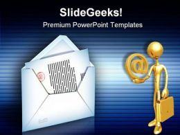 Internet Mail Computer PowerPoint Templates And PowerPoint Backgrounds 0611
