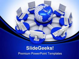 Internet Network Computer PowerPoint Backgrounds And Templates 0111