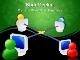Internet Networking Communication PowerPoint Templates And PowerPoint Backgrounds 0711