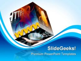 Internet Www Web Computer PowerPoint Templates And PowerPoint Backgrounds 0311