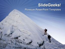Island Peak In Nepal Holidays PowerPoint Templates And PowerPoint Backgrounds 0711