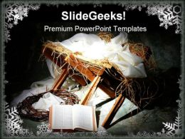 Jesus Birth Religion PowerPoint Template 0610