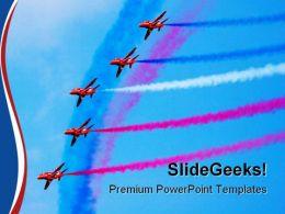 Jets Transportation PowerPoint Template 1110