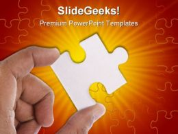 Jigsaw Puzzle Business PowerPoint Templates And PowerPoint Backgrounds 0711