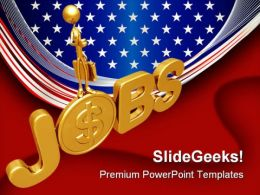 Jobs People PowerPoint Template 0910