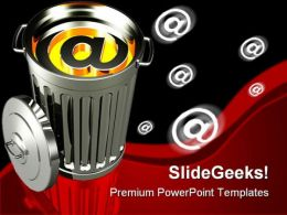 Junk Email Internet PowerPoint Templates And PowerPoint Backgrounds 0211