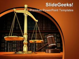 Justice Is Served Law PowerPoint Template 1110