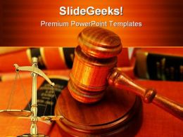 Justice Law PowerPoint Template 0610
