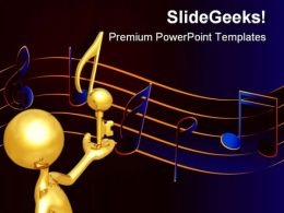 Key Note Music PowerPoint Templates And PowerPoint Backgrounds 0611
