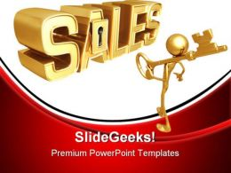 Key To Sales Marketing PowerPoint Templates And PowerPoint Backgrounds 0711