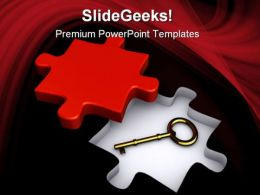 Key To Solution Business PowerPoint Templates And PowerPoint Backgrounds 0211