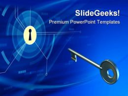 Key To Solution Security PowerPoint Templates And PowerPoint Backgrounds 0311