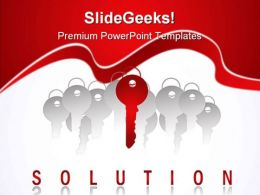 Key To Solution Success PowerPoint Templates And PowerPoint Backgrounds 0211