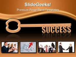 Key To Success Business PowerPoint Background And Template 1210