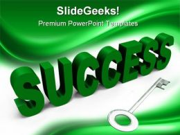 Key To Success Business PowerPoint Templates And PowerPoint Backgrounds 0211