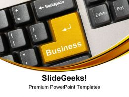Keyboard With Business Communication PowerPoint Templates And PowerPoint Backgrounds 0611