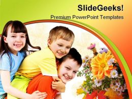 Kids Smiling Family PowerPoint Backgrounds And Templates 1210